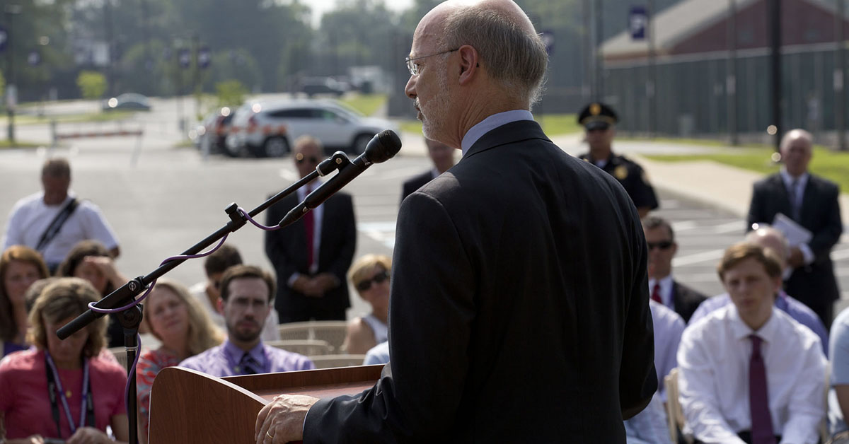 Governor Wolf delivers remarks