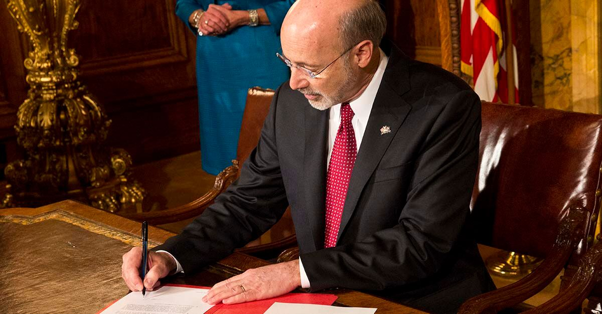 Governor Wolf signing bills