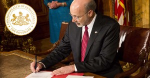 Governor Wolf signing competitive legal procurement executive order