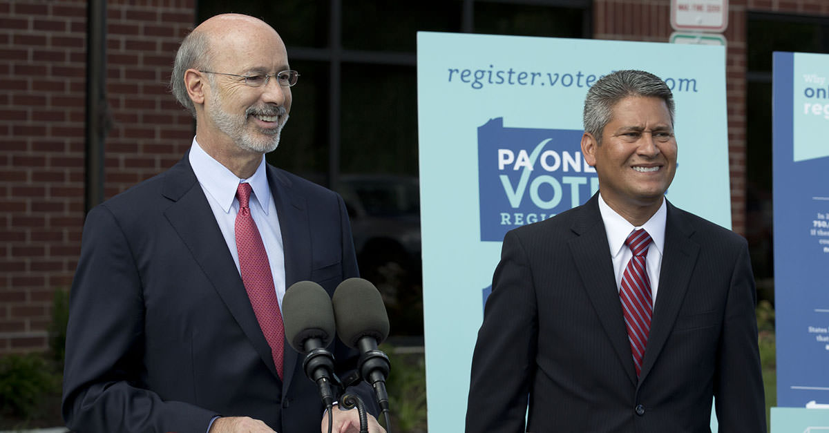 Governor Wolf and Secretary Cortés announce the launch of online voter registration