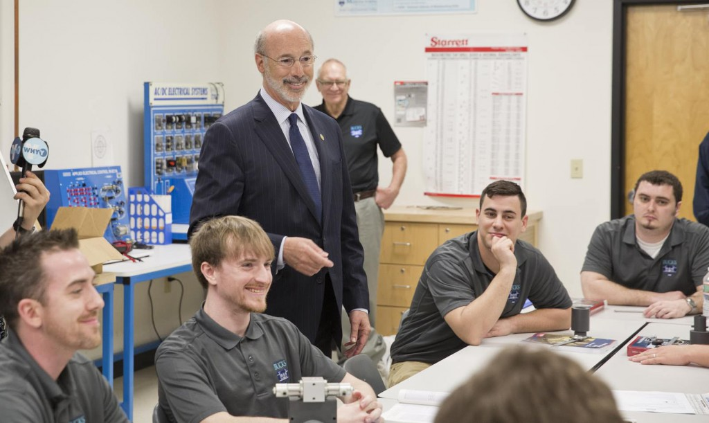 Governor Wolf tours Bucks County Community College, Center for Workforce Development