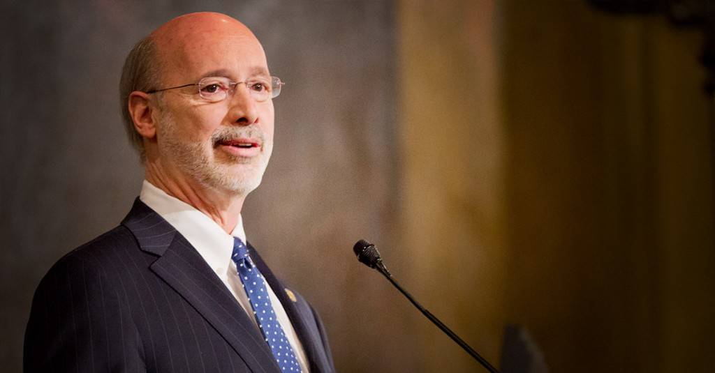 Governor Wolf addresses the people of Pennsylvania