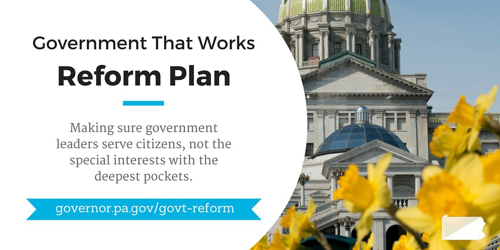 Governor Wolf's Government Reform Plan