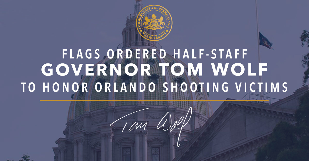 Flags ordered half-staff to honor Orlando victims