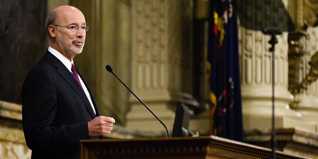 Image of Governor Wolf speaking