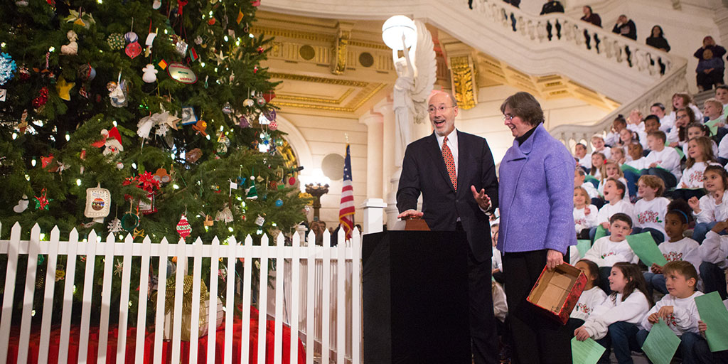 Harrisburg Capitol Christmas Lighting 2020 Governor and First Lady Frances Wolf Invite Public to Capitol Tree