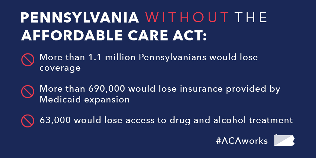 63,000 PA'ians Will Lose Treatment if ACA is Repealed
