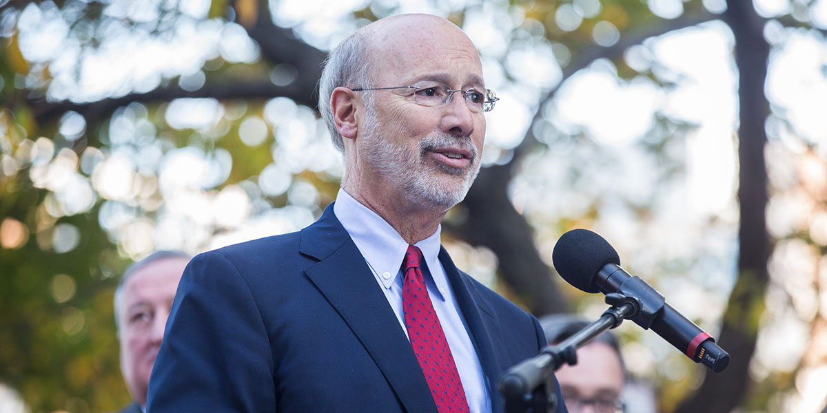 Image of Governor Wolf outside
