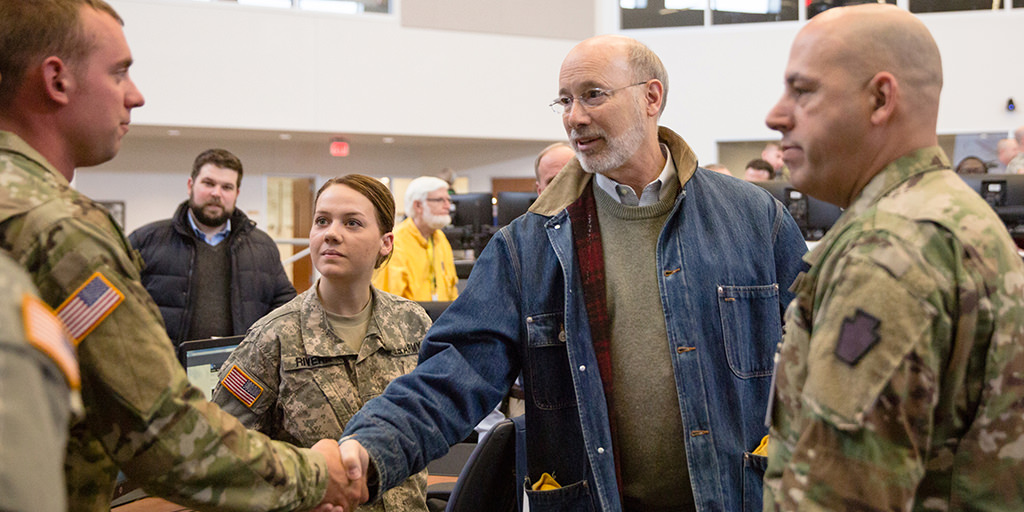 Governor-Wolf-thanks-national-guard-during-winter-storm-stella