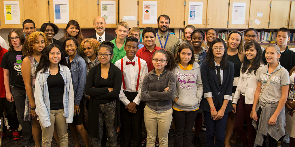 Governor-Wolf-with-Students
