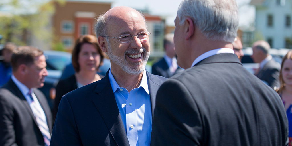 image of governor wolf smiling