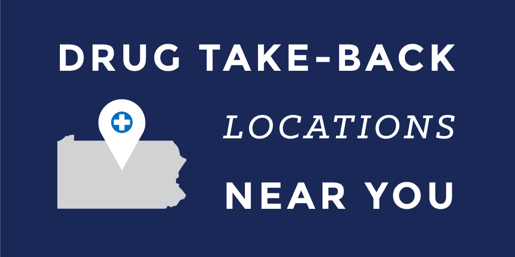 Graphic for drug take-back map