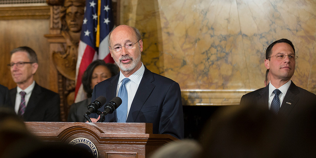 Image of Governor Wolf and Attorney General