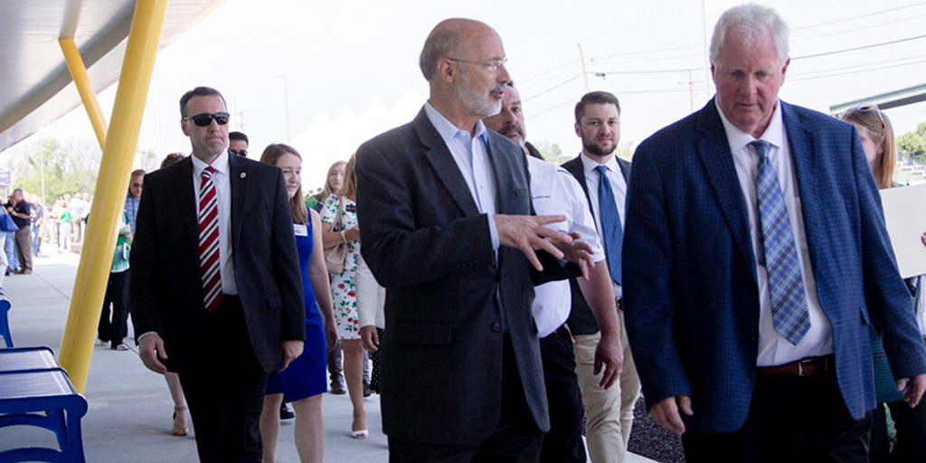 Image of Governor Wolf walking