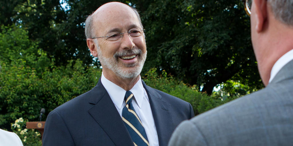 Image of Governor Wolf in a garden