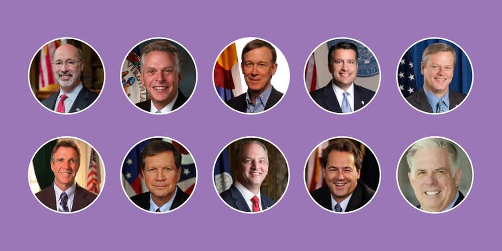 Image of headshots of bipartisan governors
