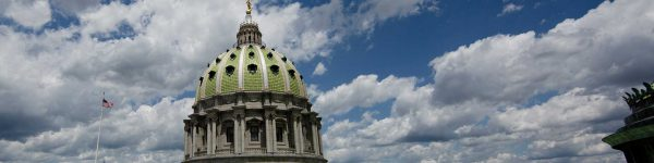 Image of the State Capitol dome in Harrisburg.
