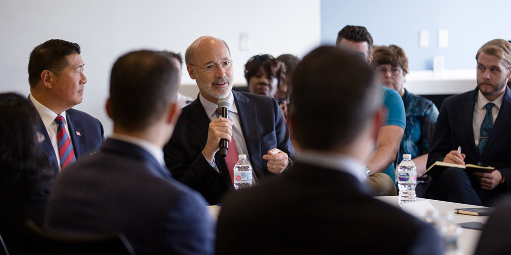 Round Table Jobs.Wolf Hosts Discussion On Jobs At University Science Center