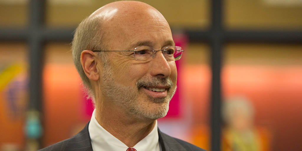 Image of Governor Wolf's head