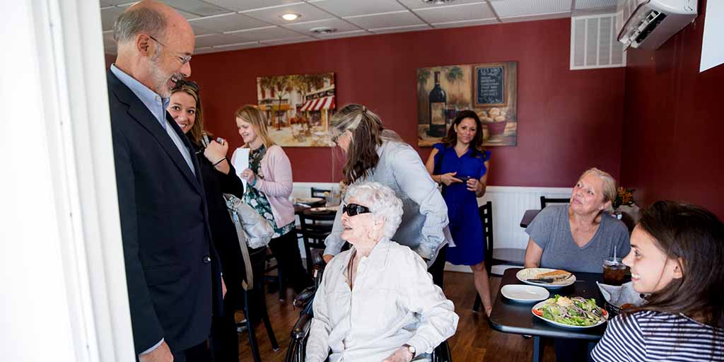Charming Governor Wolf Touts New Online Tool, Program To Help Seniors Age At Home