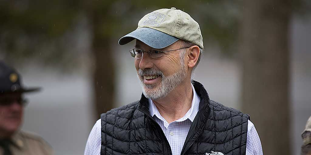Image of Governor Tom Wolf wearing a hat.