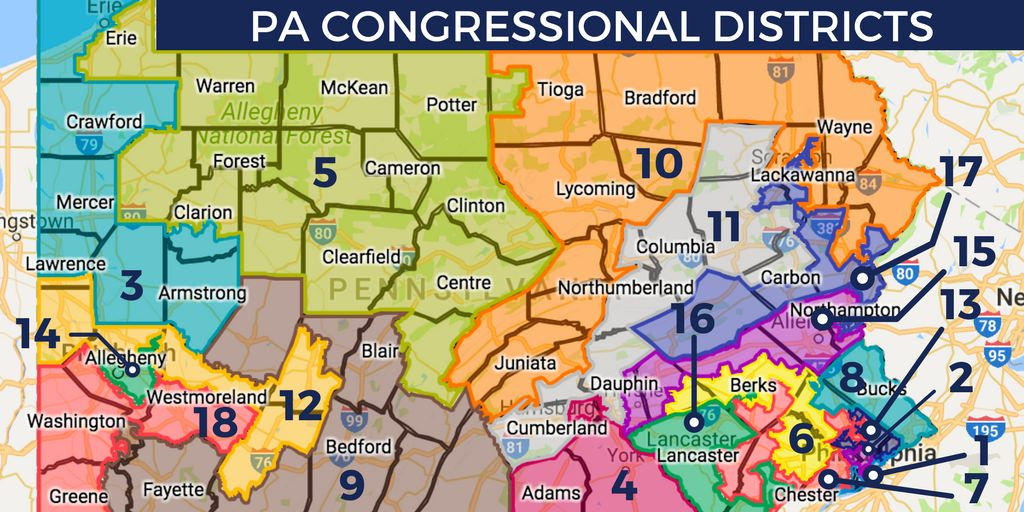 Give Feedback On Pennsylvania Congressional Redistricting - Map pa