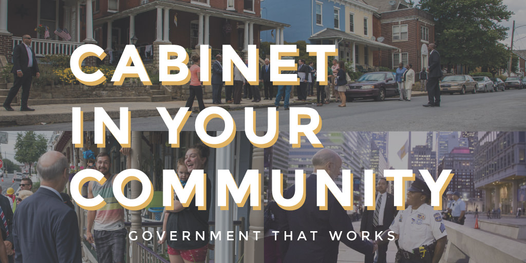 Graphic for Cabinet in Your Community Events