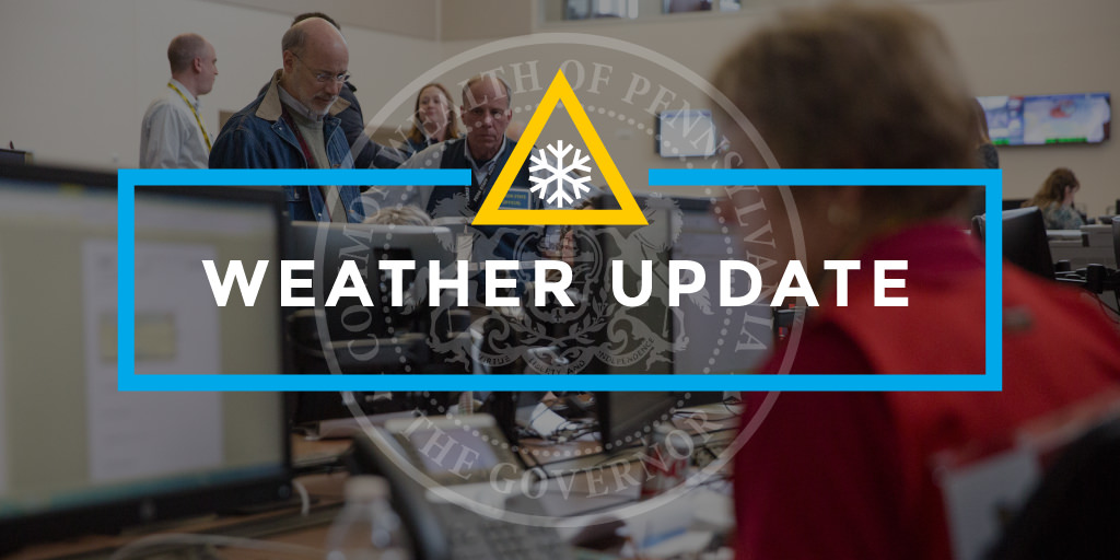 Gov  Wolf Announces Preparedness Efforts, Staffing for Winter Storm
