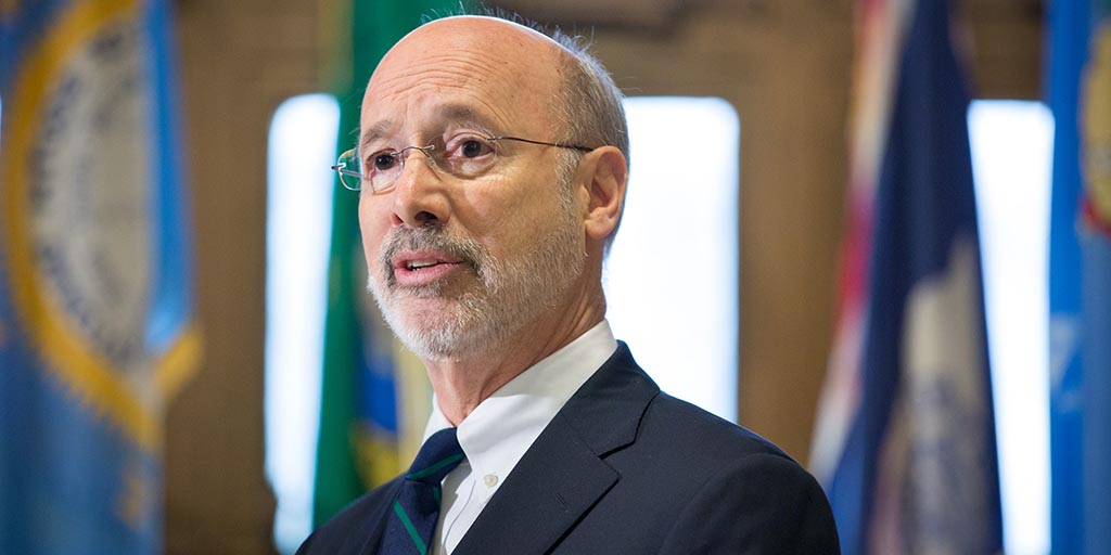 Close up image of Governor Tom Wolf.