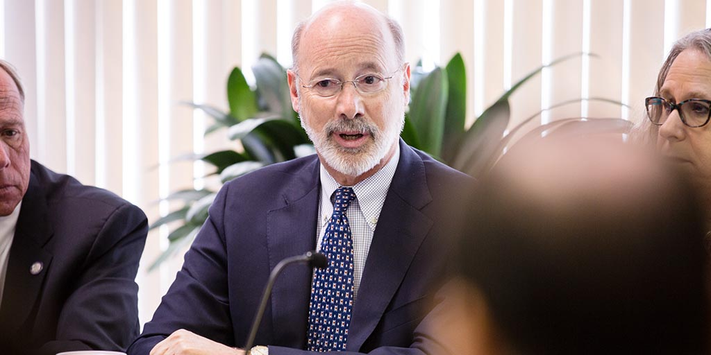 Image of Governor Tom Wolf talking.