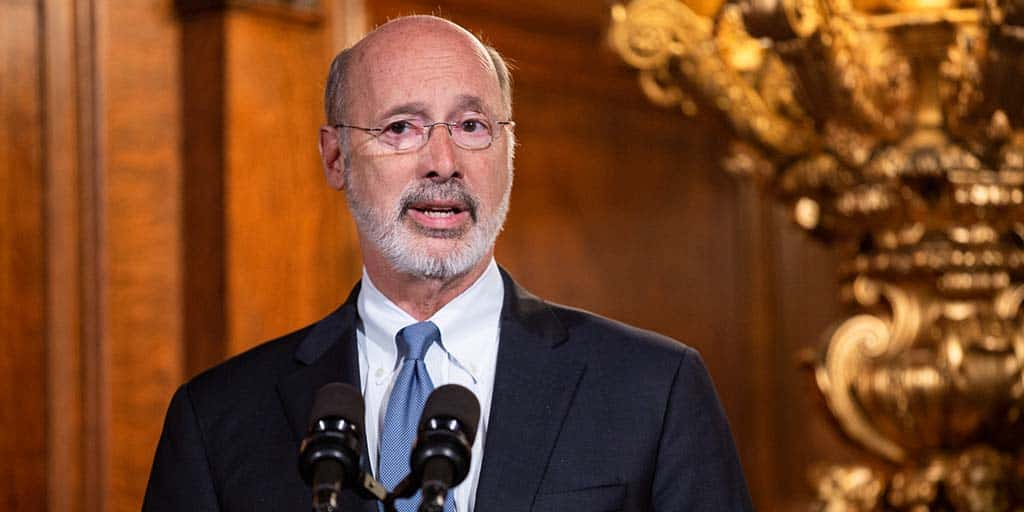 Image of Governor Tom Wolf speaking.
