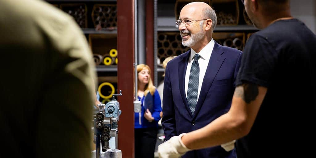 Image of Governor Tom Wolf smiling.