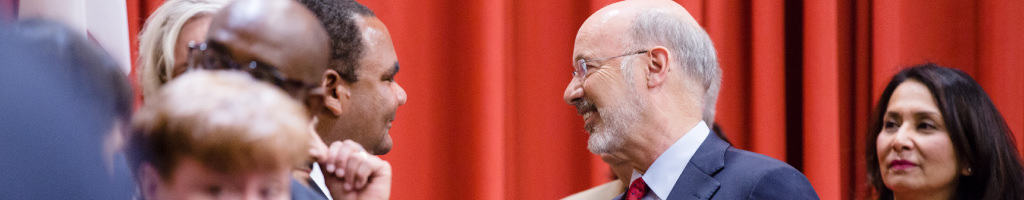 Image of Governor Tom Wolf greeting event participants.