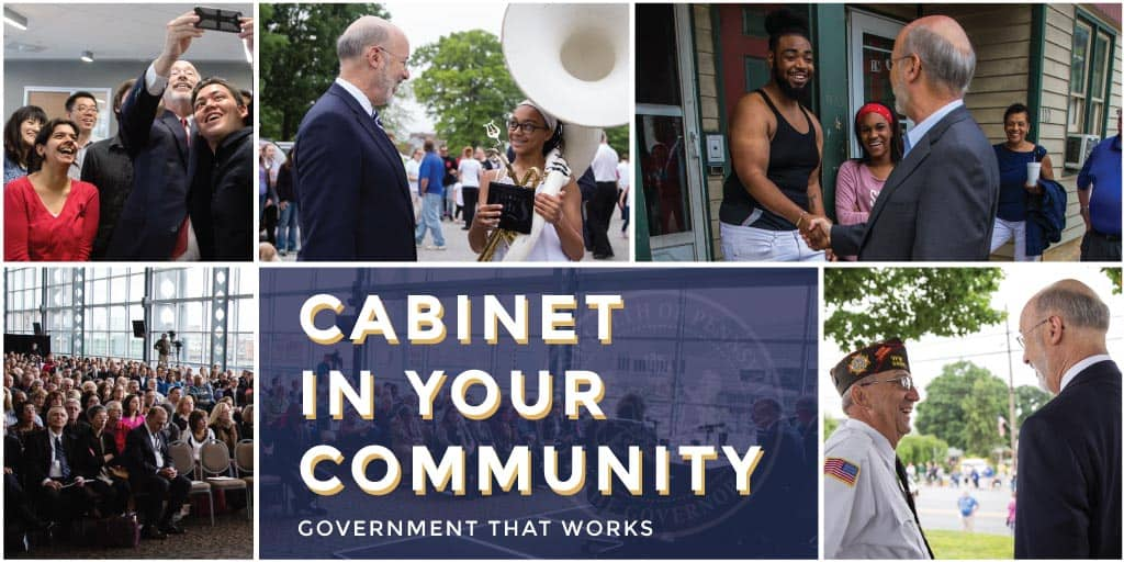 Graphic for Cabinet in Your Community Event