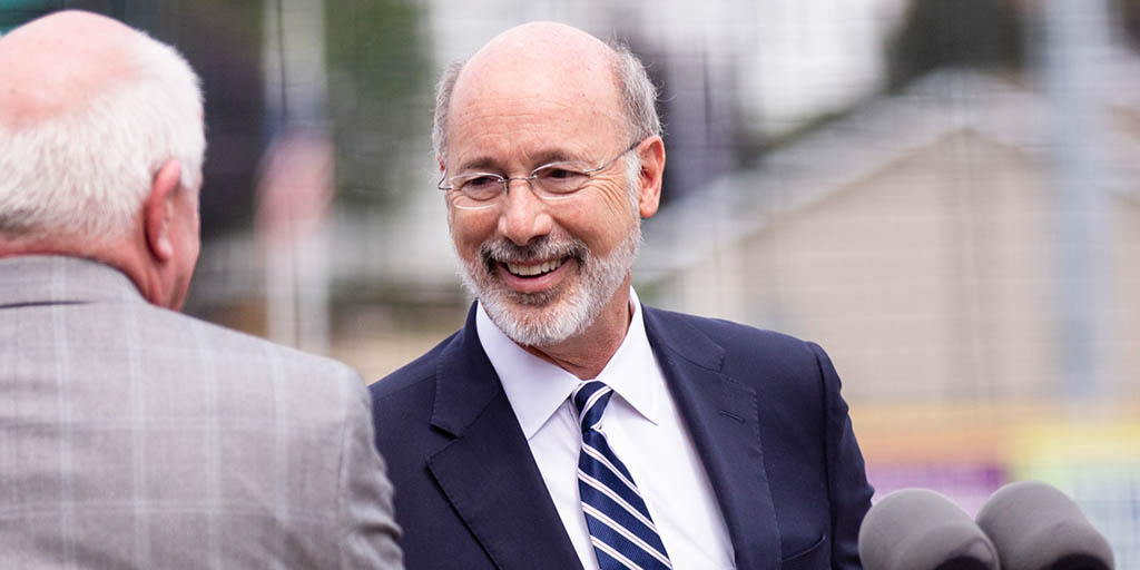 Image of Governor Tom Wolf smiling outside