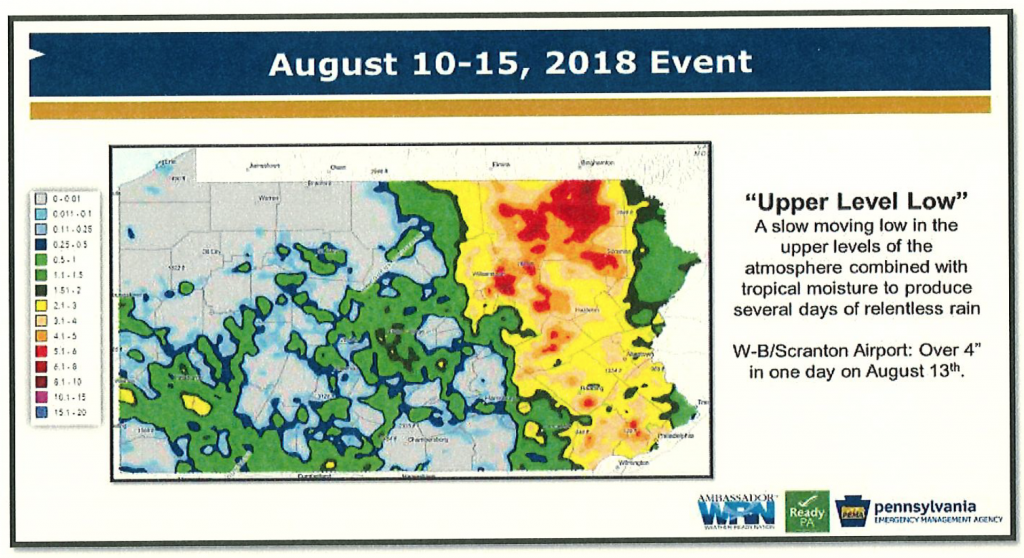 Governor Wolf Requests Federal Aid for Severe Storms in August