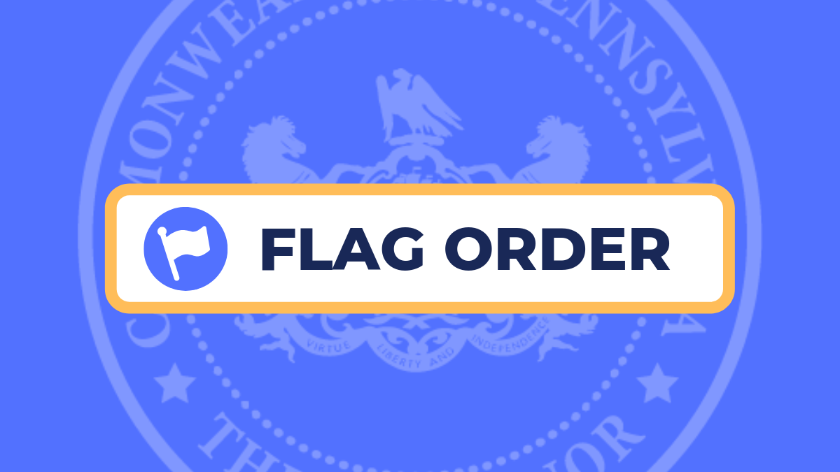 Flag order graphic.