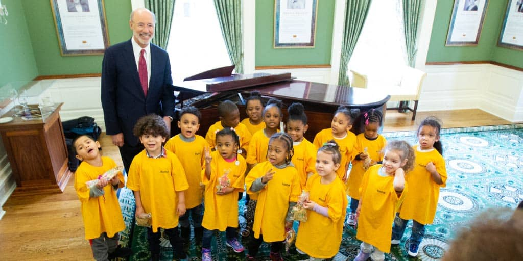 Governor Wolf and kids