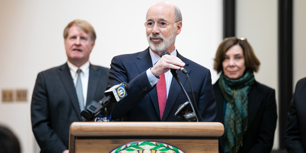 Governor Wolf Speaking at a school