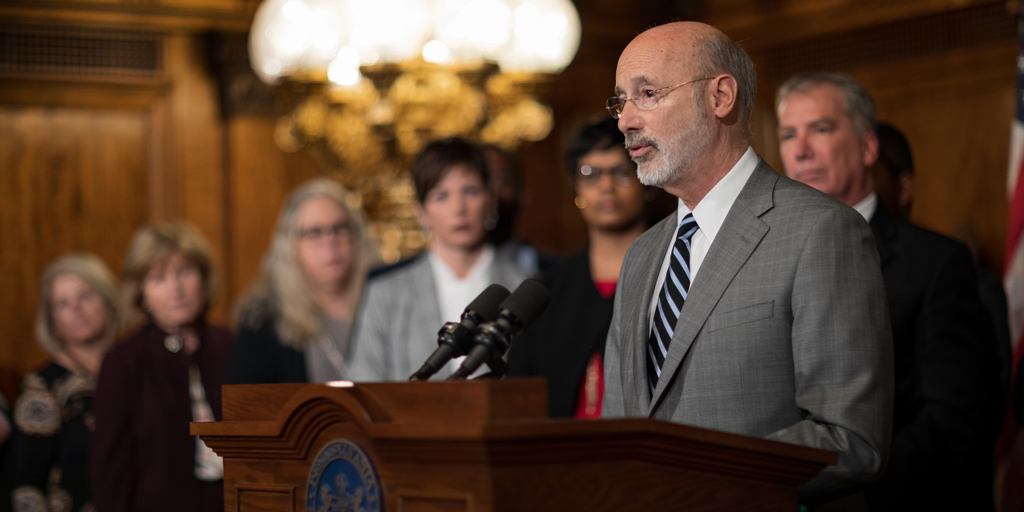 Governor Wolf speaking