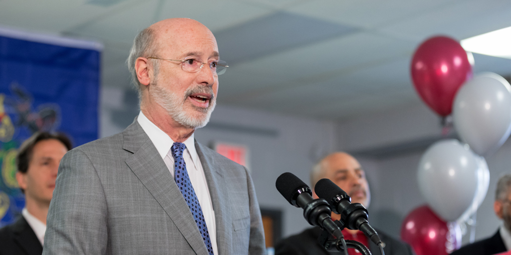 Governor Wolf speaks on gun violence