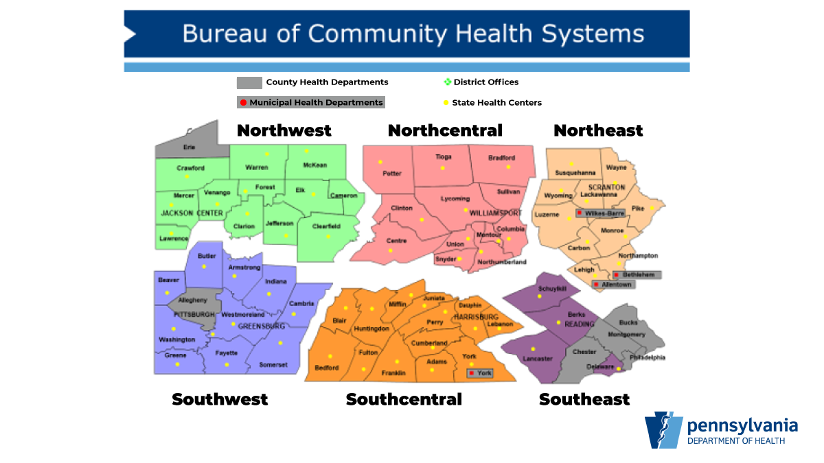 Regional Map by Bureau of Community Health Systems