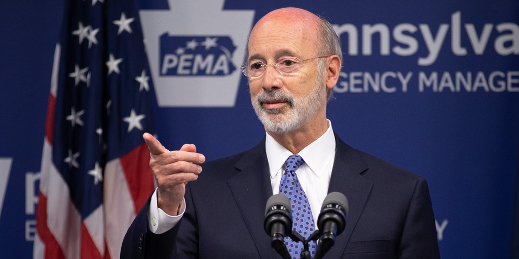 Governor Tom Wolf speaking at PEMA
