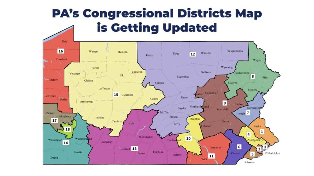 Pennsylvania Congressional Districts Map